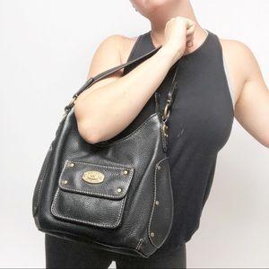 Michael Kors Vintage leather black hobo bag purse